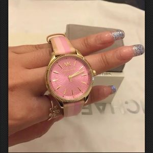 Michael Kors Women's Lexington Leather Watch